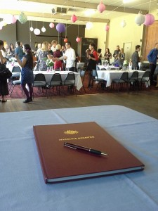 The celebrants Register